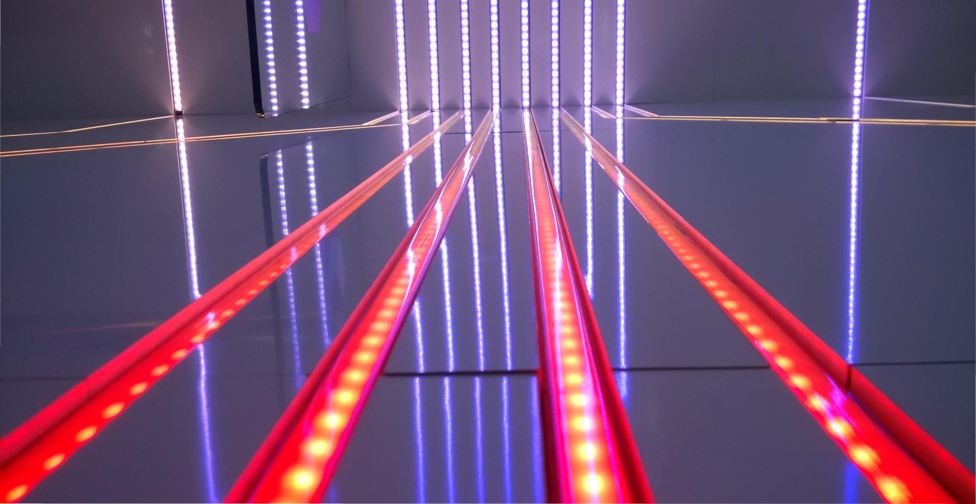Ledblade indoor visuals